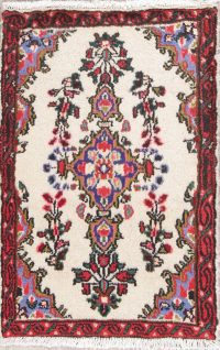 Floral Ivory Lilian Persian Hand-Knotted 2x3 Wool Rug