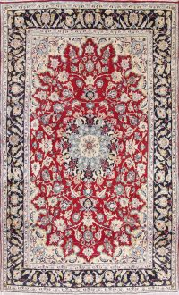 Floral Red Najafabad Persian Hand-Knotted 7x12 Wool Area Rug