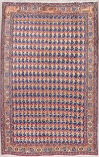 All-Over Ardebil Persian Hand-Knotted 5x7 Wool Area Rug