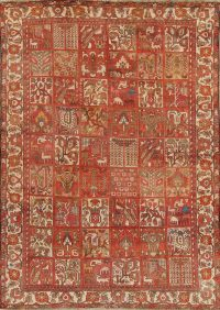 Garden Design Bakhtiari Persian Hand-Knotted 7x10 Wool Area Rug