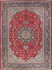 Hand-Knotted Najafabad Persian Area Rug Wool 10x13