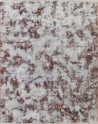 Muted Bakhtiari Persian Hand-Knotted 8x10 Wool Distressed Area Rug