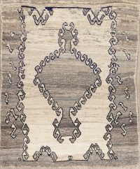 Geometric Gabbeh Persian Hand-Knotted 3x4 Wool Rug