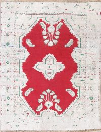 Red Hamedan Distressed Rug 3x4