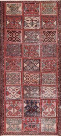 Patchwork Red Bakhtiari Wool Rug 4x8
