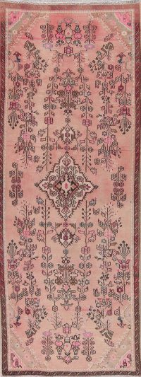 Pink Ardebil Persian Runner Rug 3x8