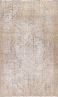 Antique Tabriz Muted Distressed Rug 5x9
