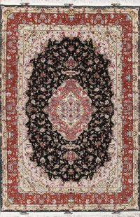 Vegetable Dye Tabriz Wool/Silk Persian Rug 7x10