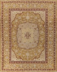 Pre-1900 Vegetable Dye Gold Agra Indian Rug 10x13