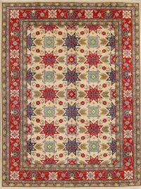 Kazak-Chechen Oriental Area Rug 10x14