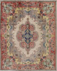 Tabriz Muted Distressed Persian Area Rug 10x13