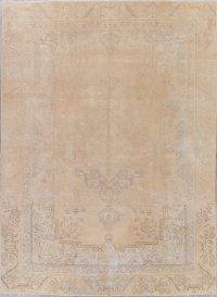 Tabriz Muted Distressed Persian Rug 9x12