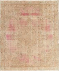Over-Dye Tabriz Muted Distressed Area Rug 9x10