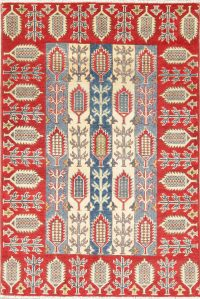 Geometric Kazak Pakistan Wool Rug 3x5