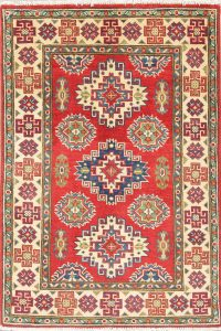 Red Kazak-Chechen Oriental Rug 3x4