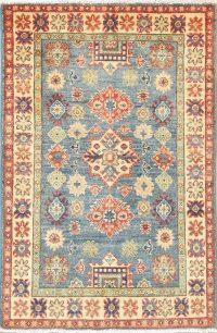 Geometric Kazak Pakistan Wool Rug 3x4