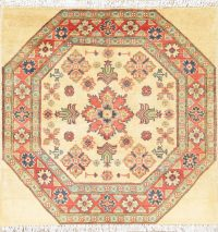 Geometric Kazak Pakistan Wool Rug 3x3 Square