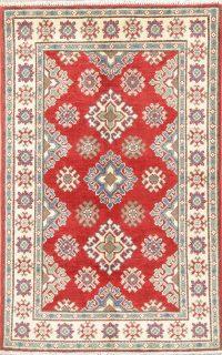 Geometric Kazak-Chechen Oriental Rug 3x4