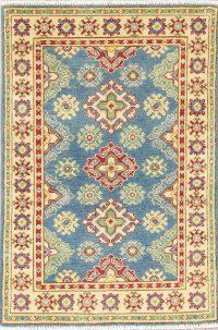 Blue Kazak-Chechen Oriental Rug 3x4