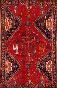 Antique Kashkoli Shiraz Persian Area Rug 4x6