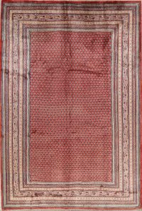 Vintage Geometric 7x11 Botemir Persian Area Rug
