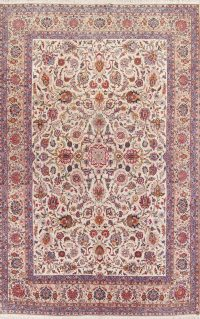 Floral 9x14 Kashan Dabir Persian Area Rug