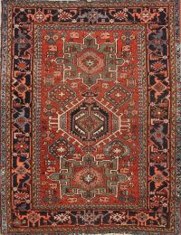 5x6 Antique Gharajeh Persian Area Rug