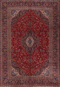 Vintage Floral 9x13 Kashan Persian Area Rug