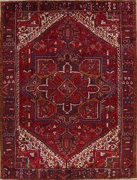 Geometric Heriz Serapi Persian Area Rug 10x13