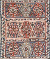Geometric Kilim Shiraz Persian Area Rug 5X6