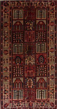 Vintage Geometric Bakhtiari Persian Runner Rug 5x10