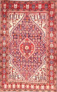 Vintage Geometric 3x5 Sarouk Persian Area Rug