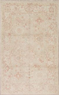 Vegetable Dye Muted Oushak Turkish Area Rug 4x7