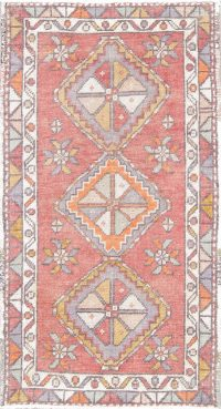 Geometric Anatolian Turkish Rug Wool 2x3