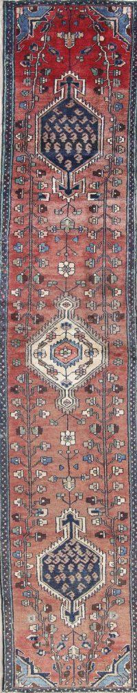 Vintage Tribal Malayer Persian Hamedan Runner Rug 2x13