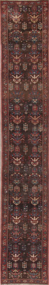 Pre-1900 Vegetable Dye Bakhshayesh Runner Rug 2x11
