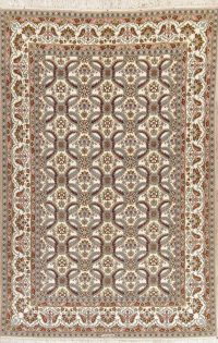 Masterpiece Wool/Silk Isfahan Persian Area Rug 8x12
