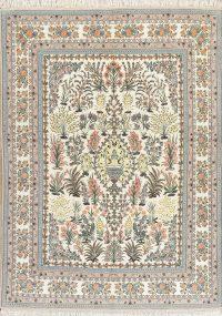 Masterpiece Wool/Silk Isfahan Persian Rug 8x12
