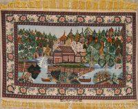 Pictorial Isfahan Persian Wool Rug 4x5
