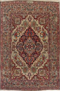 Pre-1900 Vegetable Dye Kerman Persian Wool Rug 9x13