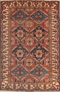 Coral Red Bakhtiari Persian Wool Rug 5x7