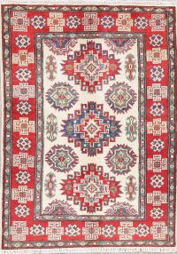Geometric Super Kazak Pakistan Wool Rug 3x4
