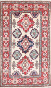 Ivory Super Kazak Pakistan Wool Rug 3x5