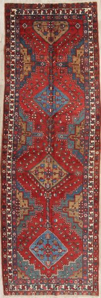 Antique Red Heriz Bakhshayesh Persian Runner Rug 3x10