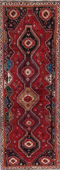Red Kashkoli Persian Runner Rug 4x11