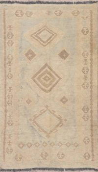 Flat-Weave Kilim Turkish Rug Wool 4x6