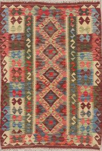 Flat-Weave Kilim Turkish Rug Wool 3x4