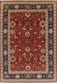Indo Heriz Serapi Red Oriental Wool Rug 10x14