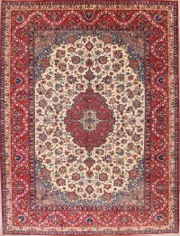 Floral Ivory 10x14 Isfahan Persian Area Rug