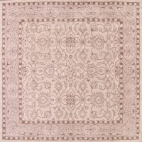 Hand-Tufted Square Oushak Oriental Area Beige Rug 12x12